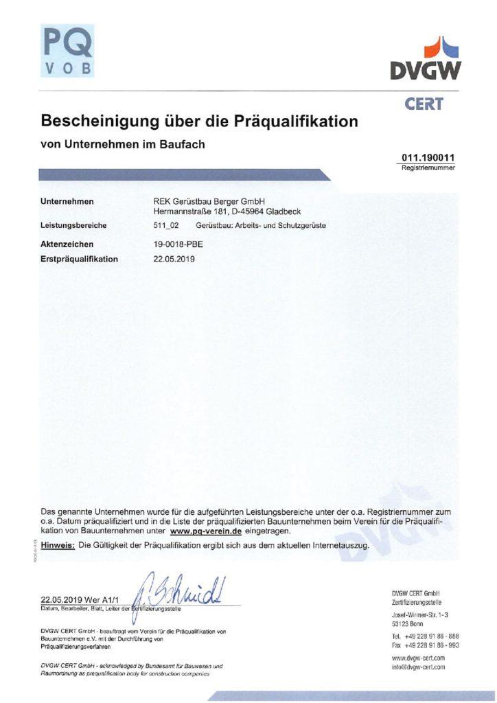 DVGW-Zertifikat